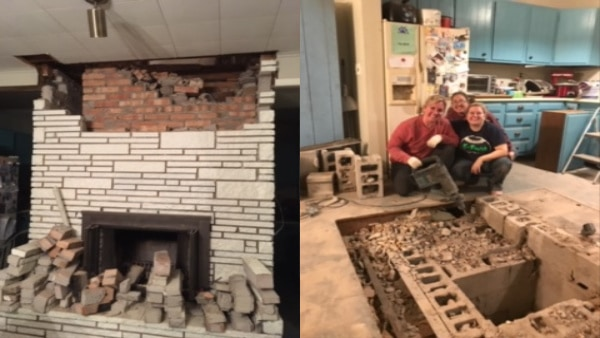 How To Remove A Brick Fireplace Yourself Simplymurray